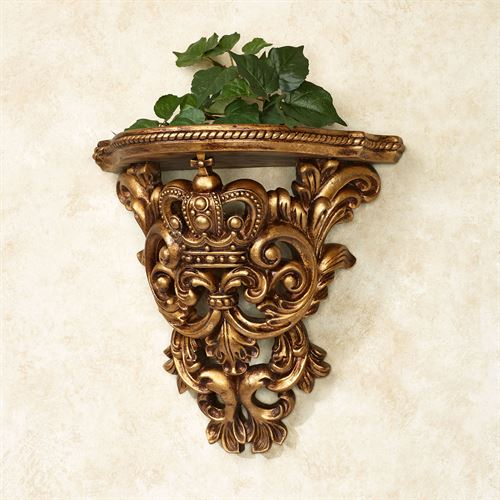 Crown Imperial Wall Shelf Baroque Gold
