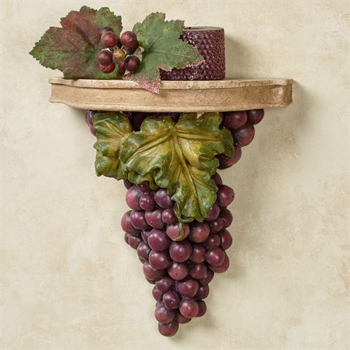 Grape Harvest Wall Shelf Sangria