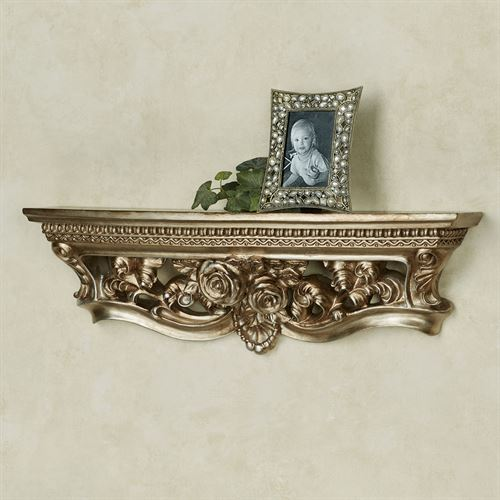Rosamond Wall Shelf Platinum