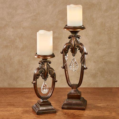 Kassiani Candleholders Gold/Bronze Set of Two