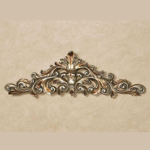 Veronique Decorative Wall Topper Burnished Silver