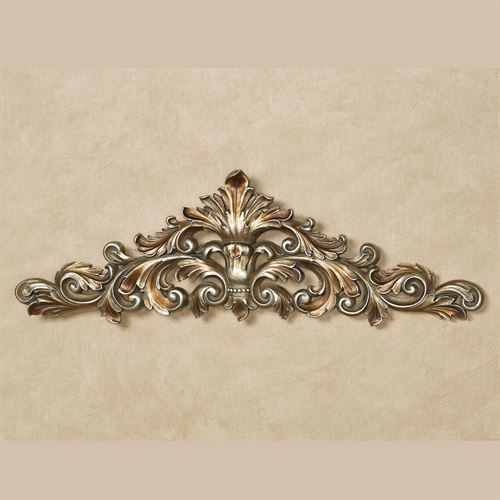 Veronique Decorative Wall Topper Burnished Silver