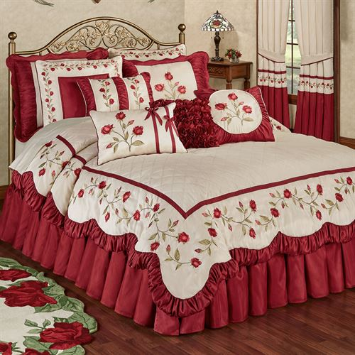 brandream rose comforter sets romantic bedspread queen set ip girls