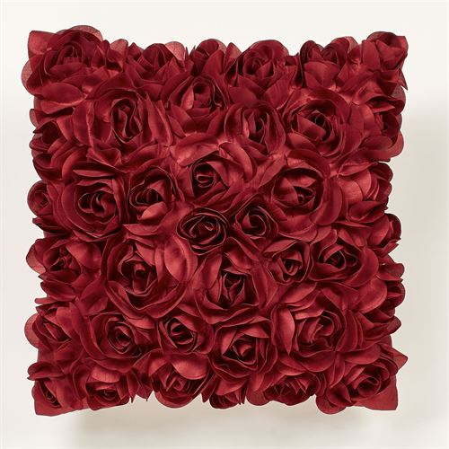 Briar Rose Tailored Pillow Dark Red 16 Square