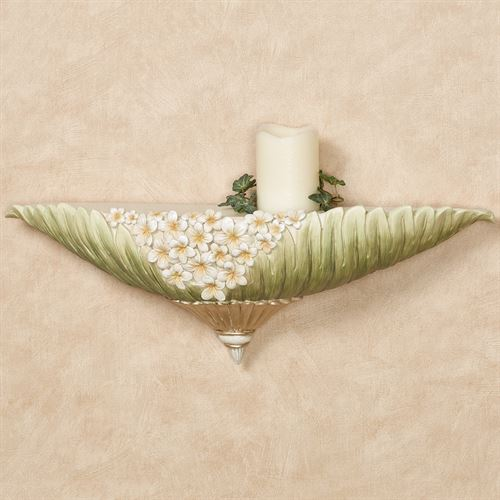 Island Bouquet Decorative Wall Shelf Green