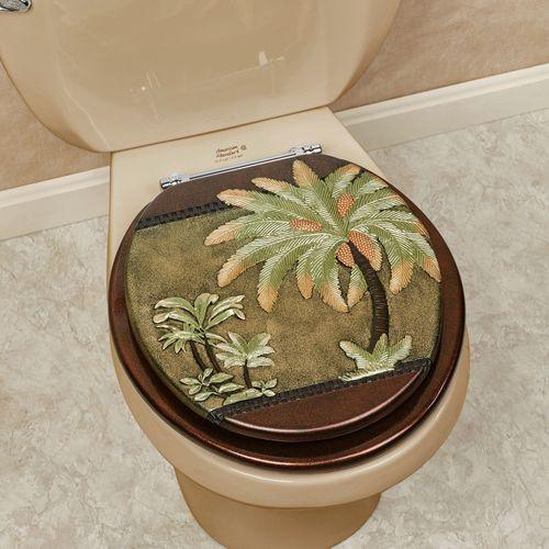 Havana Tropical Palm Tree Standard Toilet Seat
