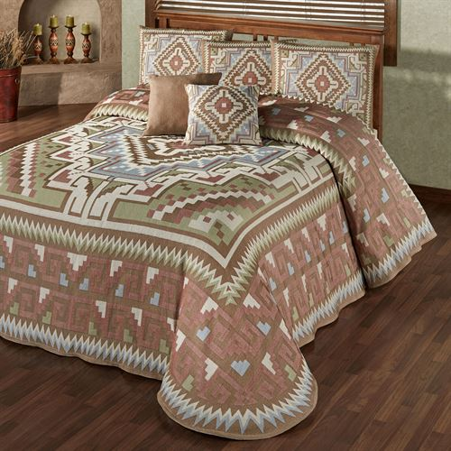 Valley View Grande Bedspread Multi Warm