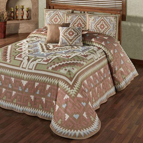 Valley View Grande Bedspread Multi Warm