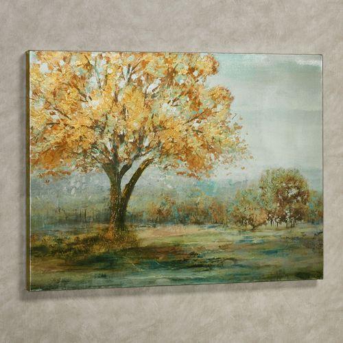 Fall Afternoon Canvas Wall Art Multi Warm
