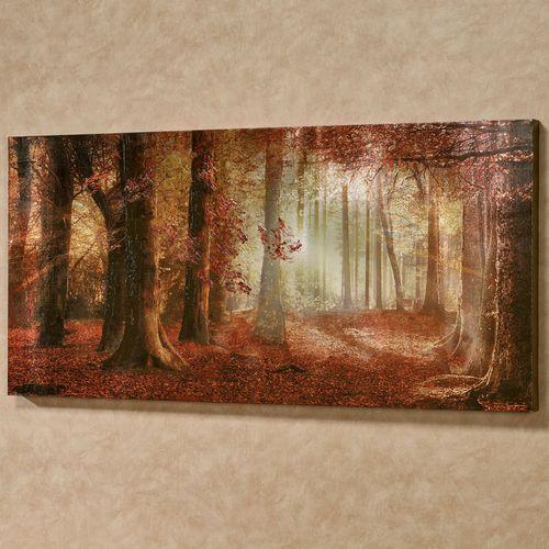 Autumn Brilliance Canvas Wall Art Multi Warm