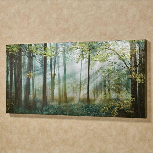 Summer Forest Canvas Wall Art Green