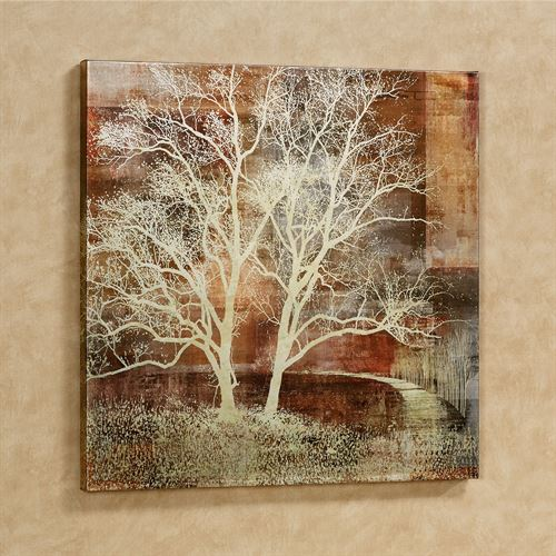 Silhouette Tree Canvas Wall Art Multi Earth