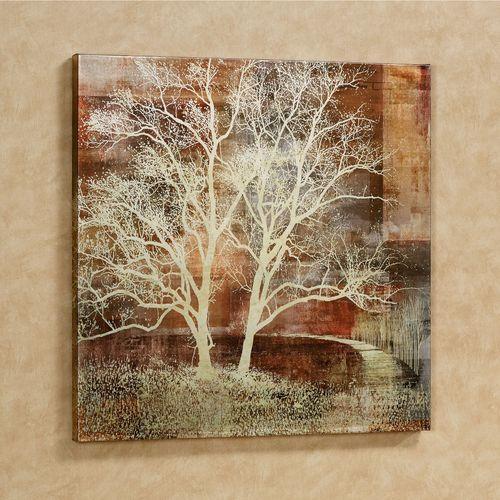 Silhouette Tree Canvas Wall Art Multi Earth