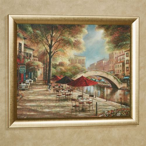 riverwalk charm framed wall art picture. Black Bedroom Furniture Sets. Home Design Ideas