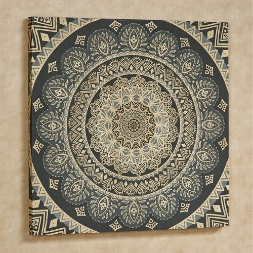 Aurora Beaded Medallion Canvas Wall Art