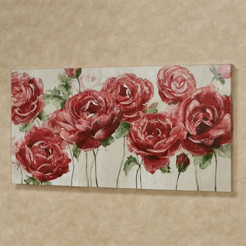 Garden of Roses Canvas Wall Art Multi Warm