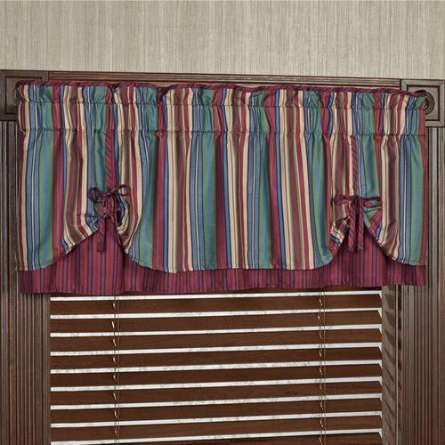 Brighten Layered Tie Valance Multi Jewel 60 x 18