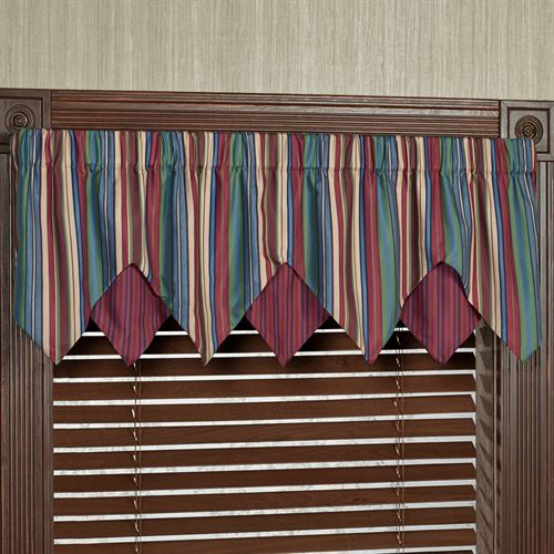 Brighten Layered Ascot Valance Multi Jewel 60 x 18