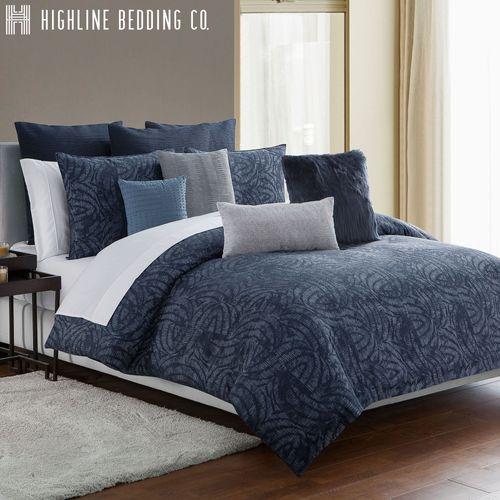 Jakarta Swirl Mini Comforter Set Midnight Blue