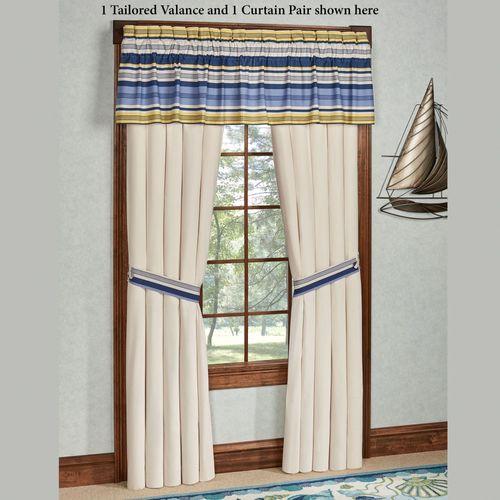 Beaufort Tailored Curtain Pair Light Cream 96 x 84