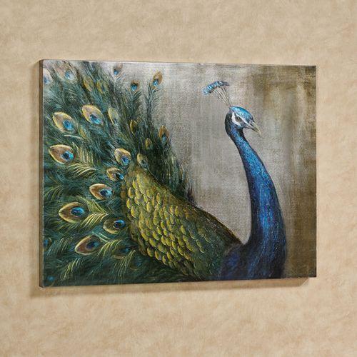 Grandeur Peacock Canvas Wall Art Multi Bright
