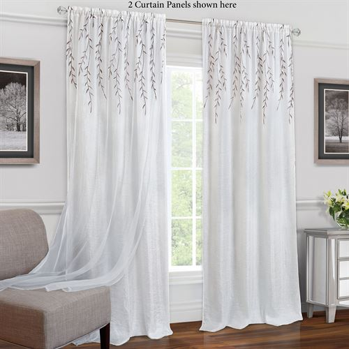 Caradan Curtain Panel White