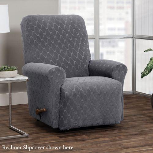 Helix Dark Gray Stretch Furniture Slipcovers