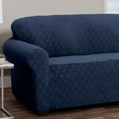 Helix Stretch Slipcover Midnight Blue Sofa