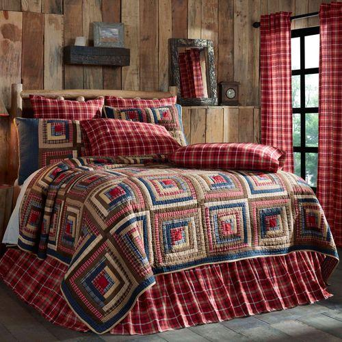 Braxton Log Cabin Patchwork Quilt Bedding