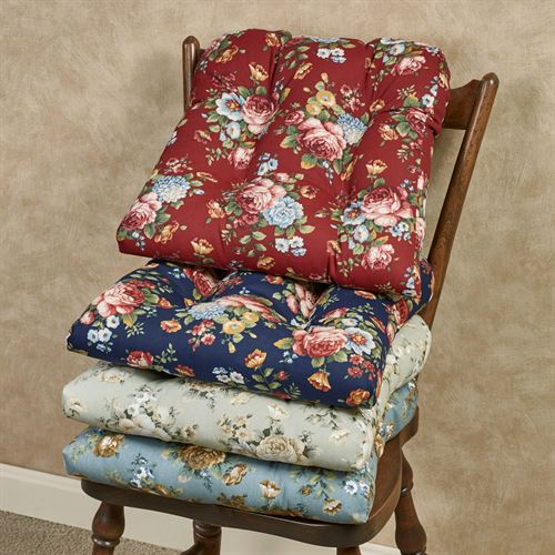 Bella Rose Nonskid Floral Chair Cushion Set