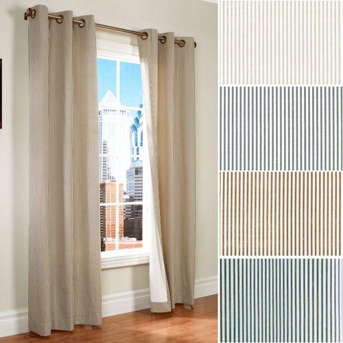 Laundry Stripe Grommet Curtain Pair