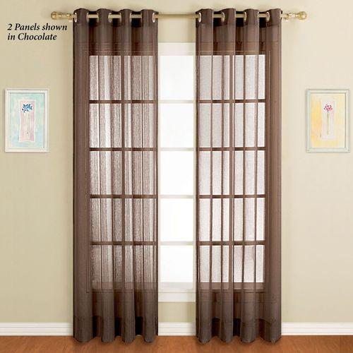 Dakota Sheer Grommet Curtain Panel