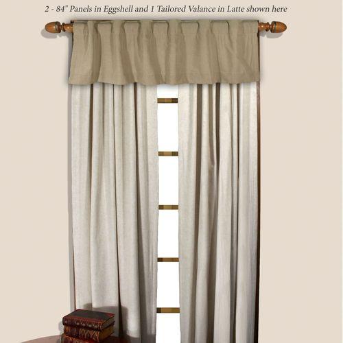 Homespun Tailored Curtain Panel