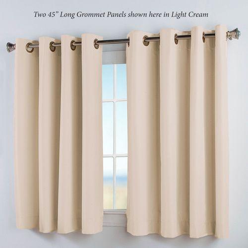 Thermal Elegance Short Grommet Curtain Panel