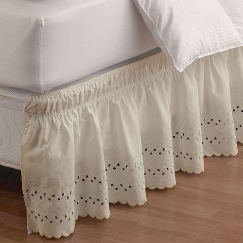 Easy Fit Ruffled Eyelet Bedskirt