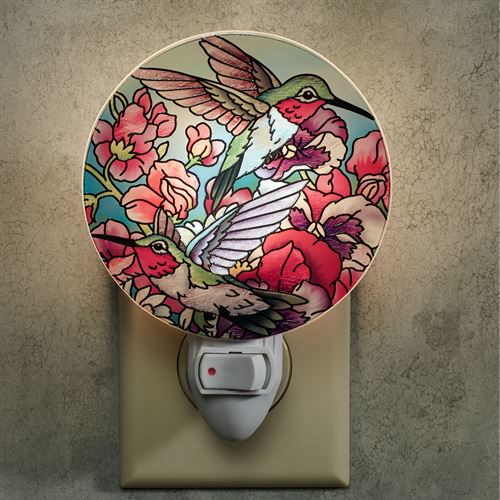 Hummingbirds Alight Nightlight Multi Jewel