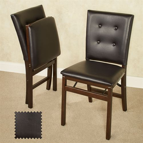 Parlene Folding Chairs Espresso Set of Two