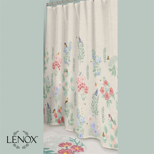 Meadow Birds Shower Curtain Khaki 72 x 72