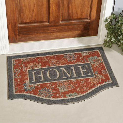 Cozy Jacobean Doormat Vermillion 36 x 24