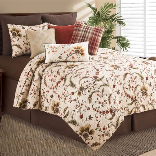 Autumn Bloom Mini Quilt Set Multi Warm