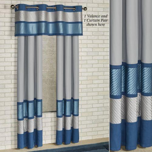 Beta Grommet Valance Blue Shadow 60 x 18