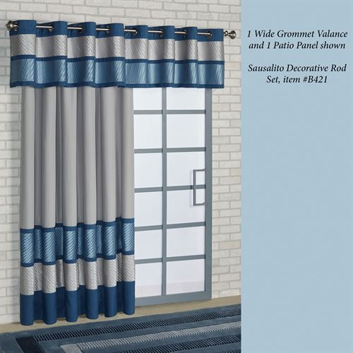 Beta Grommet Patio Panel Blue Shadow 112 x 84