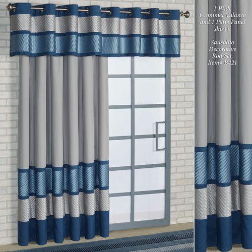 Beta Grommet Patio Panel Blue Shadow 112 x 84