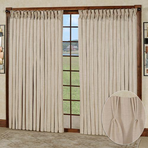 Marshfield Drapery Wide Width Pinch Pleat Curtain Pair