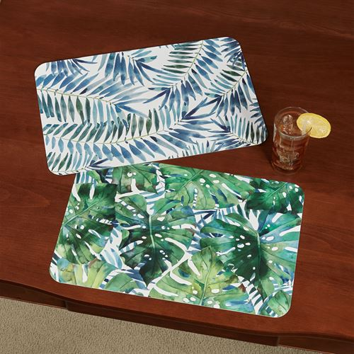 Palms Placemats Green Set of Four