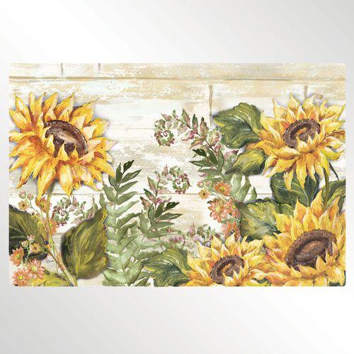 Sunflowers Cushioned Floor Mat Yellow 30 x 20