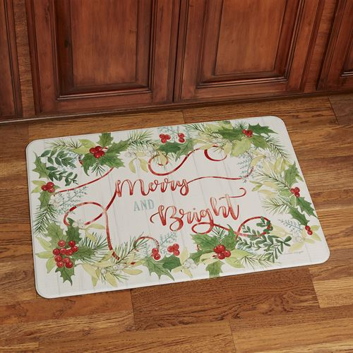 Winter Greenery Cushioned Floor Mat Red/Green 30 x 20