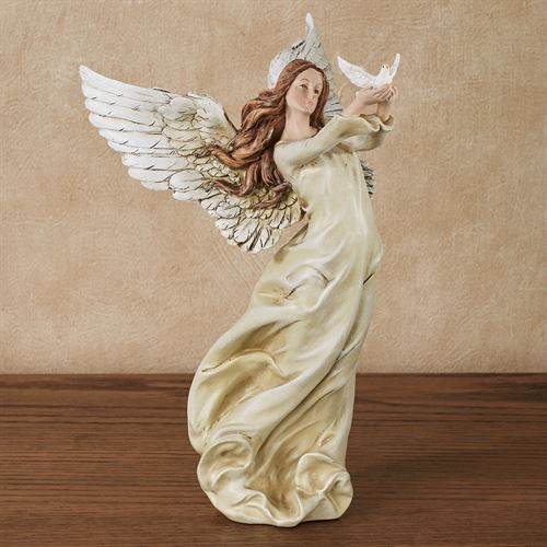 Amazing Grace Angel With Dove Figurine By Roman
