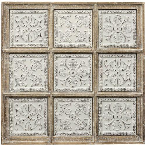 Tuscan Tiles Wall Art White