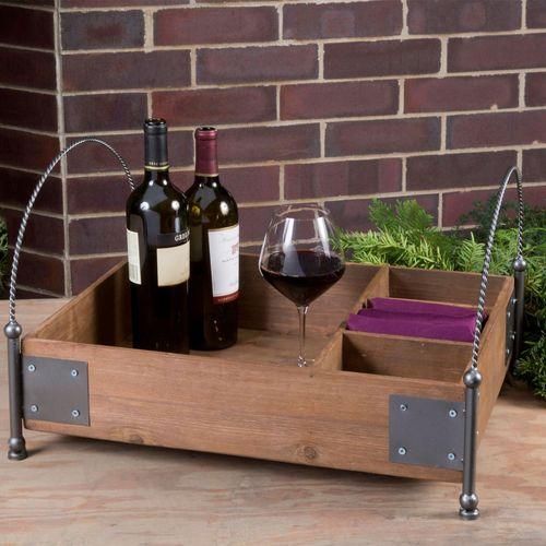 Vineyard Serving Tray Brown
